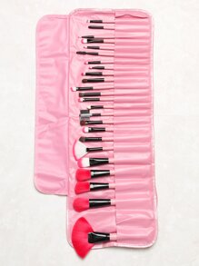 Pinceau de maquillage professionnel 24pcs -rose