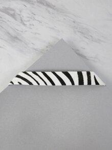 Zebra Print Choker Necklace MULTI