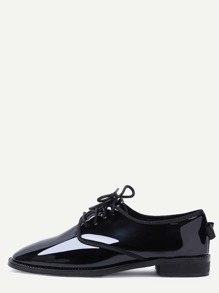 Black Patent Leather Lace Up Oxfords