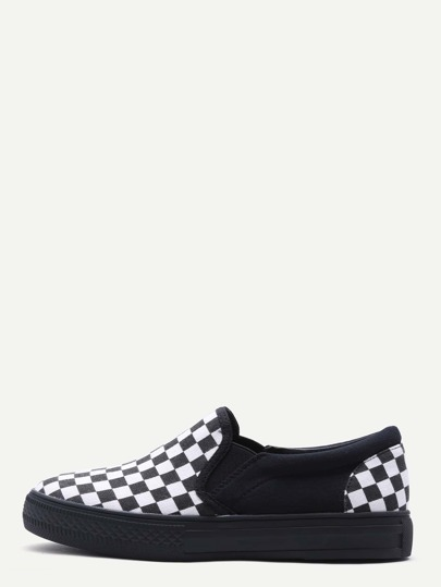 Black Damier Design Rubber Sole Low Top Sneaker