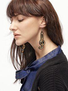 Boucles d'oreilles en forme de note