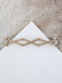 Glitter Criss Cross Clear Choker GOLD