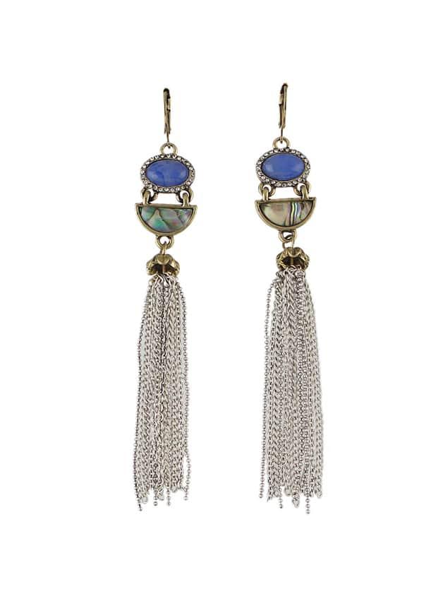 Silver Color Rhinestone Long Chain EarringsSilver Color Rhinestone Long Chain Earrings<br><br>color: Silver<br>size: None