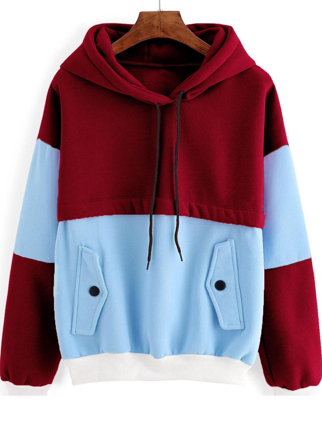 Фото Color Block Hooded Sweatshirt. Купить с доставкой