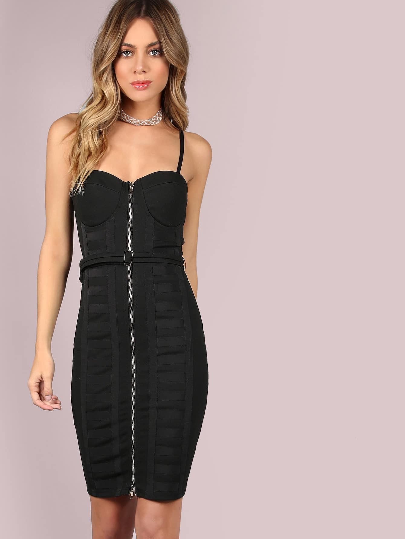 Фото Belted Bustier Zip Dress. Купить с доставкой