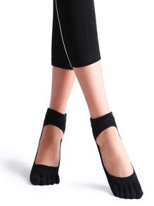 Chaussettes de 5 orteils antidérapante -noir