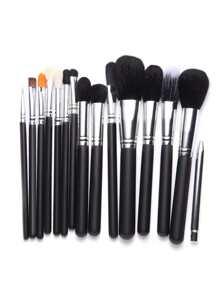 Pinceau de maquillage professionnel métallisé 15PCS -noir