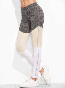 Color Block Cut And Sew Leggings