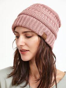 Bonnet du crochet en tricot -rose