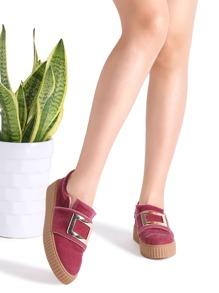 Zapatos planos con adorno metálico - rosa