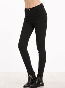 Black Skinny Pants With Pockets