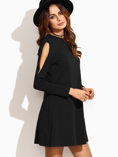 Cut Out Sleeve Tee Dress