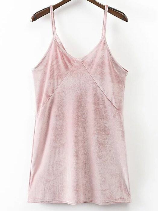 Pink Velvet Mini Cami DressPink Velvet Mini Cami Dress<br><br>color: Pink<br>size: L,M,S