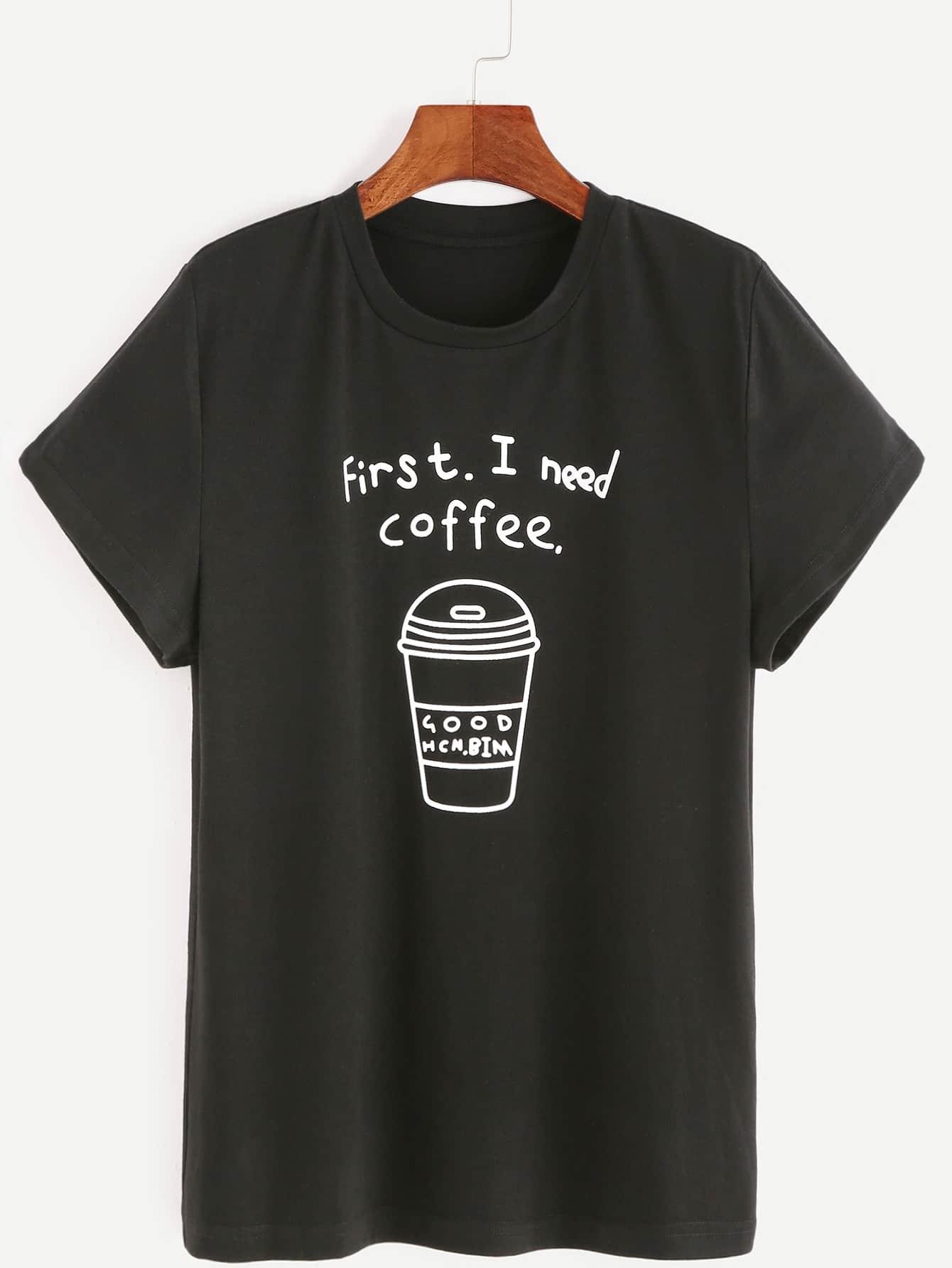 Фото Coffee Print Tee. Купить с доставкой
