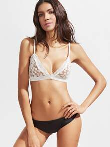 Triangle Floral Lace Bralet