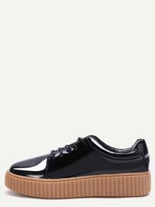 Zapatillas de charol - negro