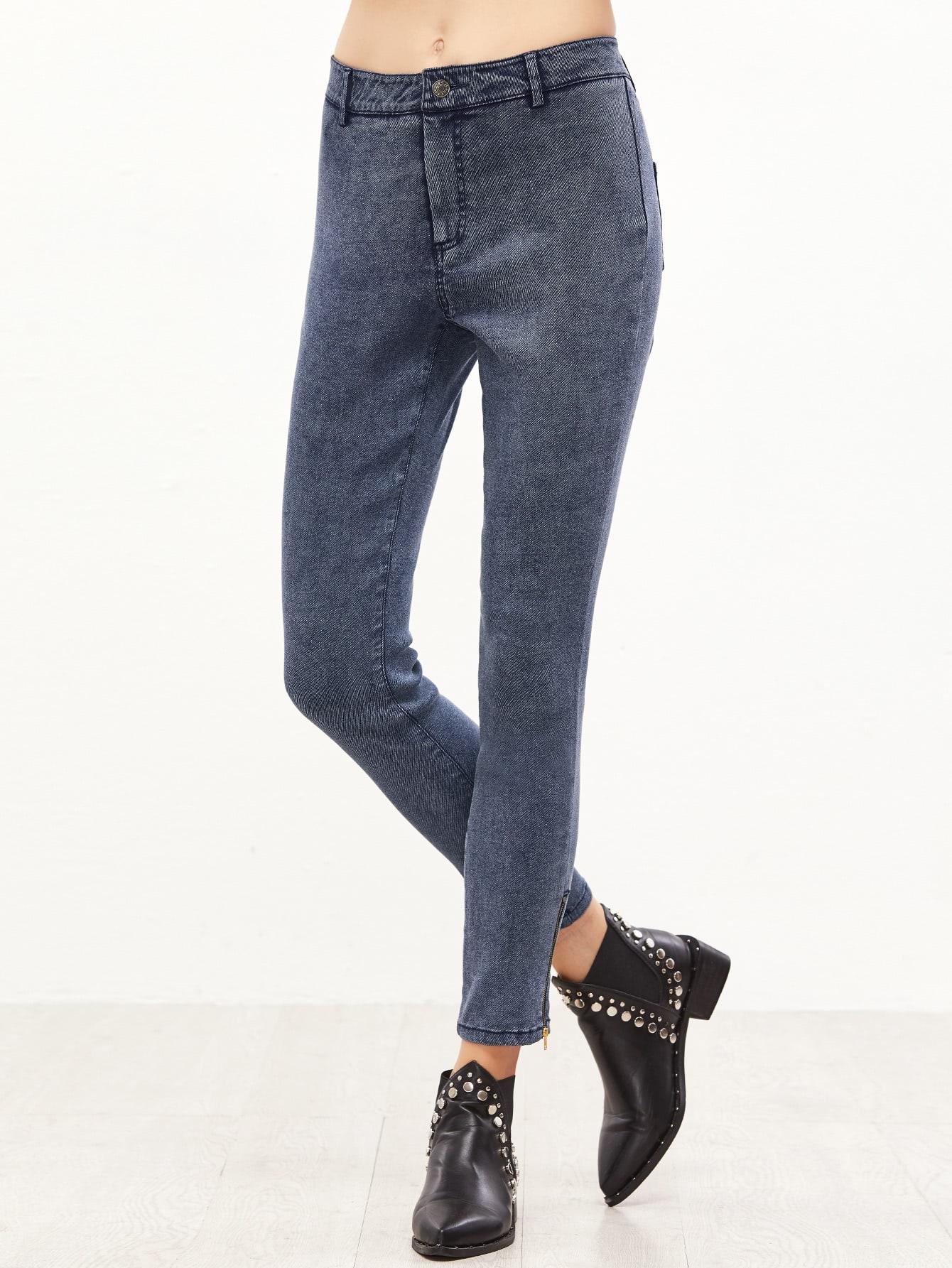 Фото Zip Hem Skinny Jeans. Купить с доставкой