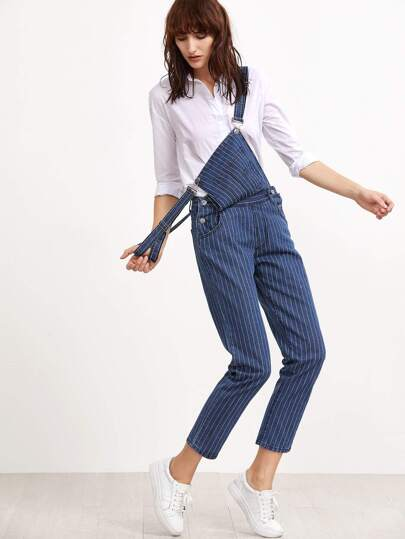 Pinstripes Denim Overall