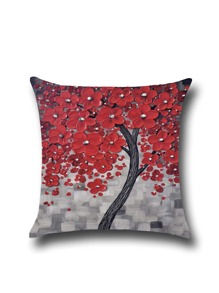 Three-dimensional Painting Linen Square Pillowcase Cover