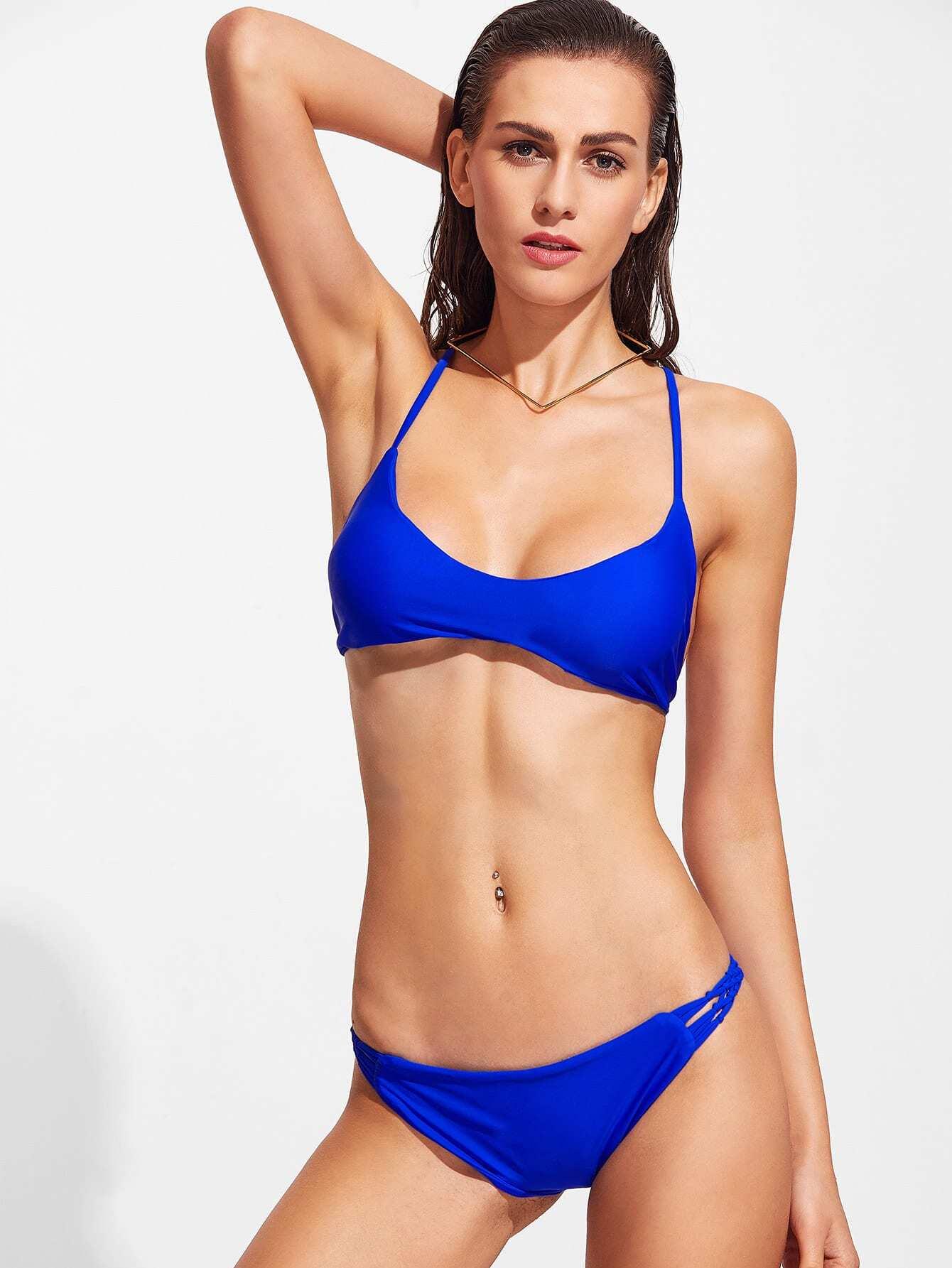 Braided Racerback Bikini Set swimwear161219309