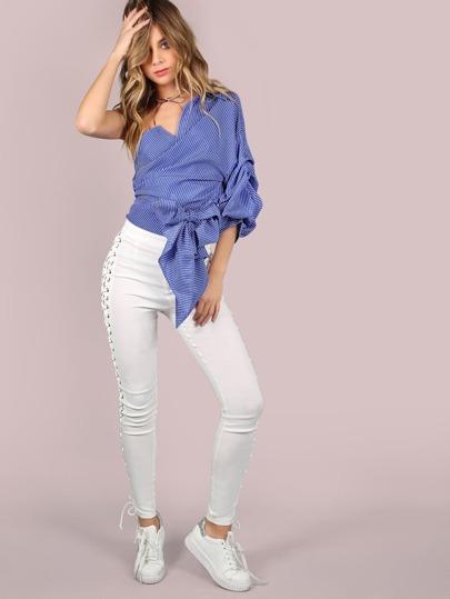 Блуза на одно плечо выкройка для фото 678