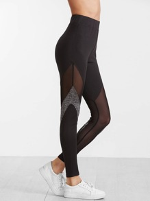Space Dye & Mesh Insert Leggings