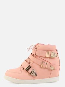 Pastel Buckle Sneakers BABY PINK