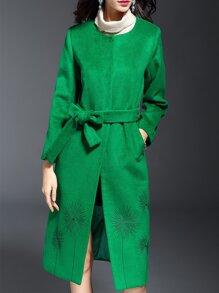 Abrigo con bordado - verde