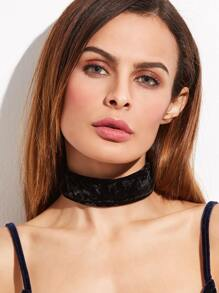 Black Glittery Tie Back Velvet Choker Necklace