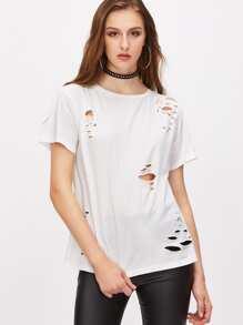Distressed Short Sleeve T-shirt