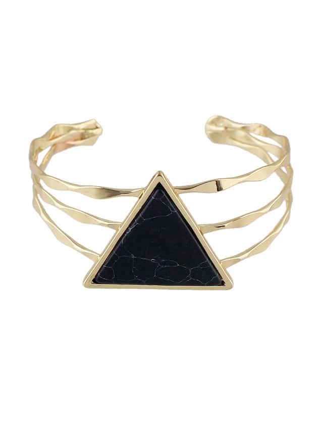 Black Color  Wide Cuff Bangles Bracelets