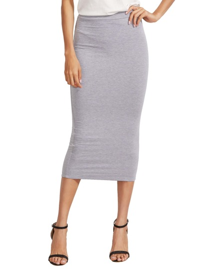 High Waist Pencil Skirt -SheIn(Sheinside)