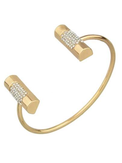 Gold Color Metal Plain Cuff Bangles