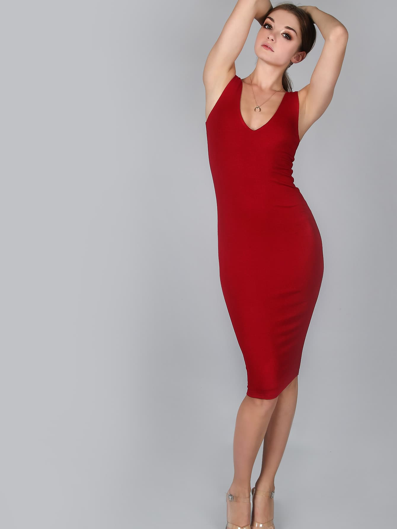 Burgundy Double Scoop Neck Tank DressBurgundy Double Scoop Neck Tank Dress<br><br>color: Burgundy<br>size: L,M,S,XS