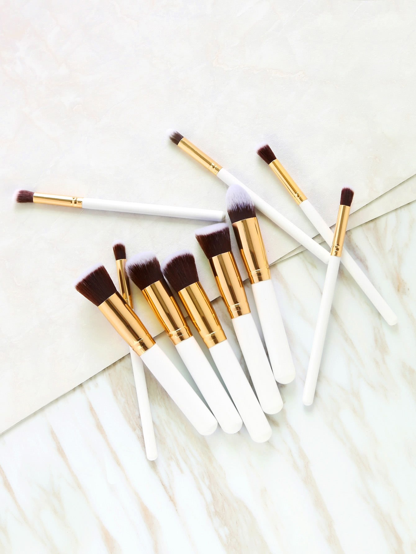 Image of 10PCS White Professional Makeup Brush Set