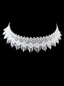 White Choker Collar Necklaces