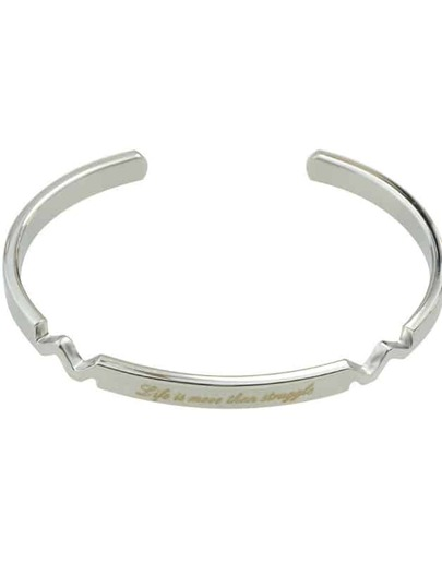Silver Color Braided Metal Cuff Bangles