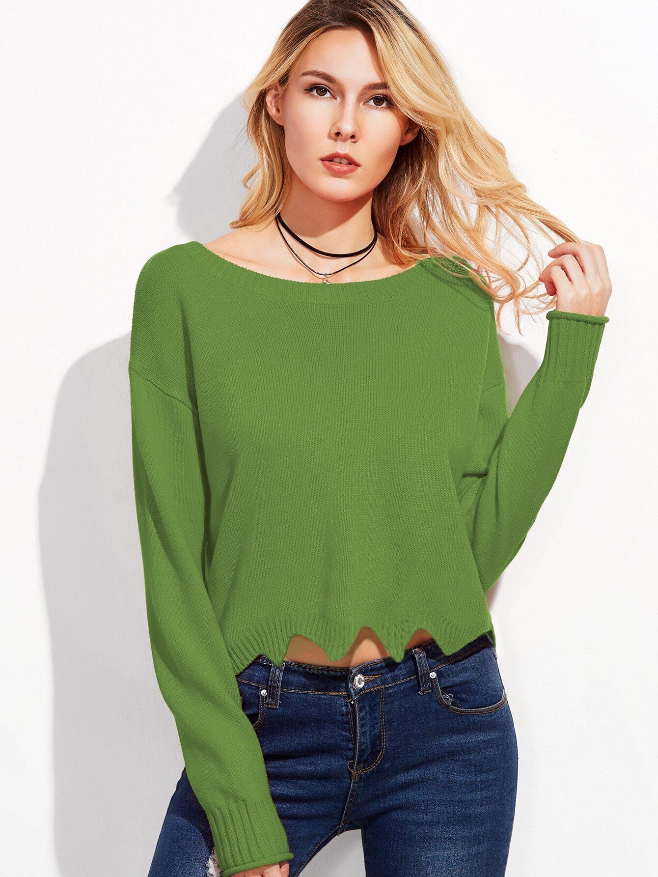 Зеленый Свитер Женский Доставка