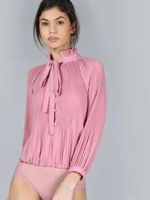 Body plisado de gasa - rosa