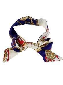 Bufanda de poliéster estampado étnico - multicolor