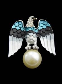 Eagle Imitation Blue Pearl Brooch