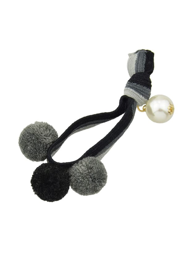 Image of Black Color Pearl Elastic Hair Band