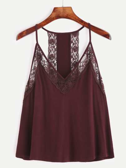 Contrast Lace Cami Top