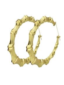 Acrylic Maze Pattern Big Round Earrings