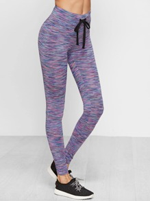 Space Dye Drawstring Waist Leggings
