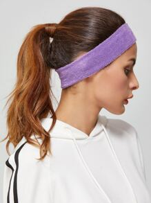 Purple Yoga Wide Elastic Headband