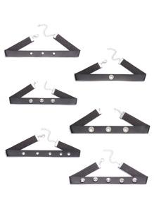 Black Studded Faux Leather Choker Neckalce Set