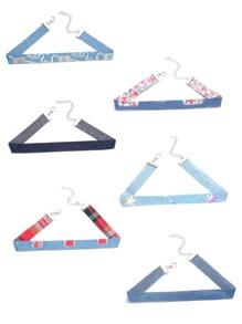 Print Denim Skinny Choker Necklace Set