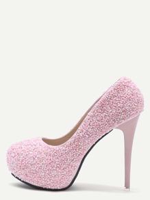 Zapatos de salón con purpurina - rosa