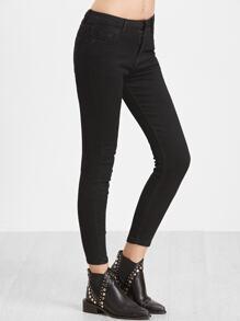 Pantalons collants avec cheville ouverte - noir